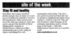 medicdirect Site of the Week