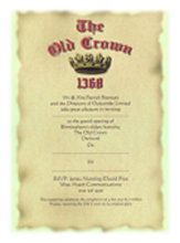 Old Crown invitations