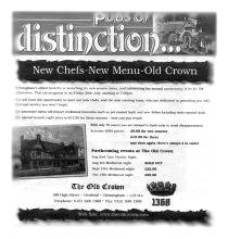 Old Crown Mediaeval Nights Advert